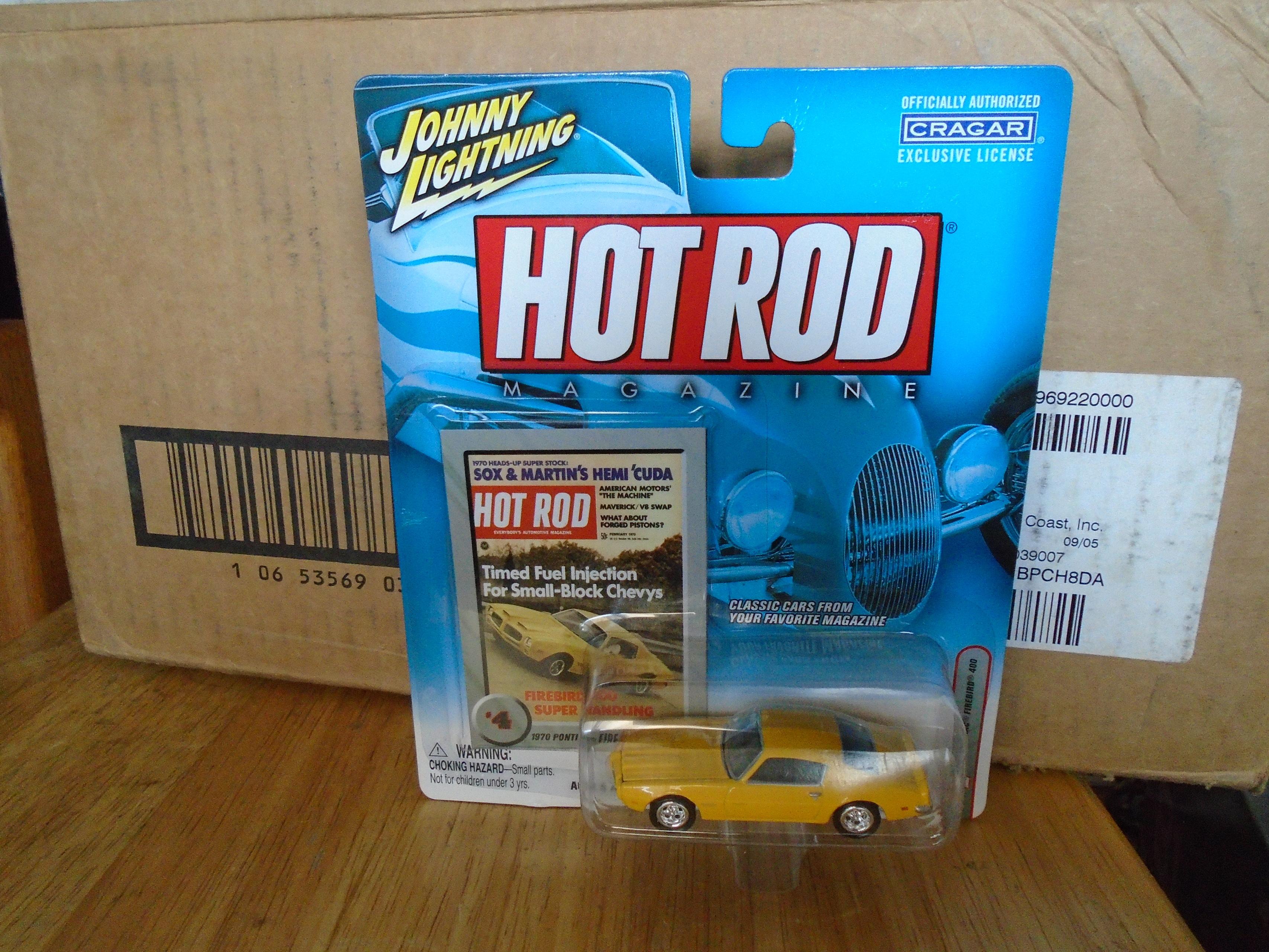 JOHNNY LIGHTNING HOT ROD Magazine Yellow '70 Pontiac Firebird 400 #4